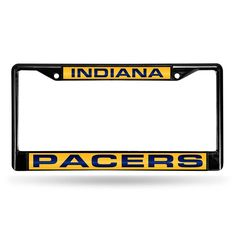 Indiana Pacers NBA Laser Cut Black License Plate Frame