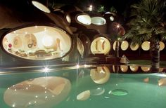 Pierre Cardin's home - Palais Bulles (the Bubble House) by architect Antti…