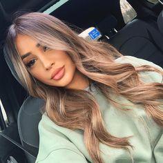 Brown Wigs Lace Hair Blonde Wig Hair Gloss Glass Hair Light Pink Wig L – chervilral Brown Hair Balayage, Brown Blonde Hair, Light Brown Hair, Brunette Hair, Hair Highlights, Caramel Balayage, Blonde Honey, Caramel Hair, Blonde Wig