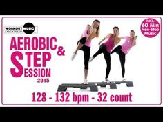 Dance Tips - Video : Aerobic & Step 2015 - 60 min Non-Stop Music - Virtual Fitness Squat, Exercice Step, Step Up Workout, Non Stop Music, Fat Burning Tips, Dance Tips, Nutrition, Workout Music, Yoga
