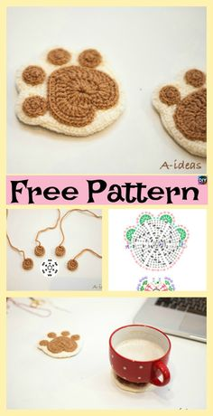 Here are three very cute crochet paw print designs, and even a cozy blanket with paws on it. It would great if you crocheted this blanket for your child, Crochet Giraffe Pattern, Crochet Shark, Crochet Unicorn, Manta Crochet, Crochet Patterns, Crochet Appliques, Crochet For Boys, Cute Crochet, Beautiful Crochet