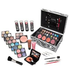 Jumbl Carry All Trunk Makeup Kit with Reusable Aluminum Case, Holiday Set No. 2 -- More info could be found at the image url.