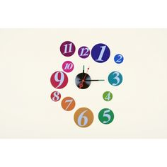 Zegar ścienny multicolor