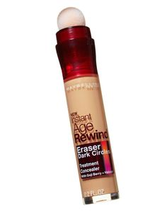 Why just hide dark circles when you can erase them? Maybelline New York Instant Age Rewind Eraser Dark Circles Treatment Concealer, $10, has a sponge tip that deposits the perfect amount of this concealer, made with circle-fading haloxyl.  -Cosmopolitan.com
