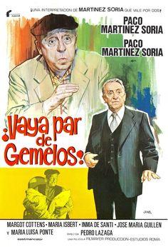 COLECCIÓN DE CARTELES ANTIGUOS DE CINE- Vaya par de gemelos 1978, con Paco Martinez Soria