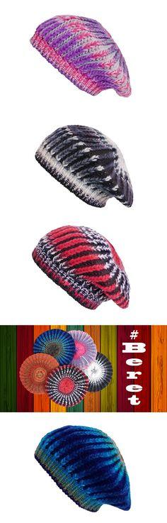 Multicoloured berets.