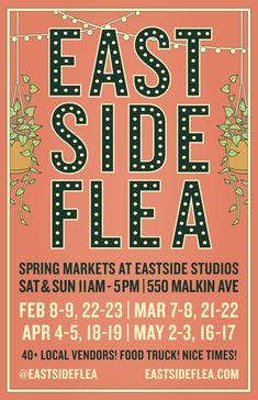 Eastside Flea New Location Fleas, Food Truck, Posters, Ads, Marketing, Food Carts, Poster, Food Trucks, Billboard