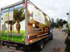 Plotagem Caminhão entrega - Art Viva Jardins