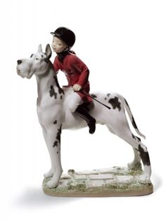 Lladro Giddy up Doggy