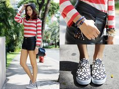 Wires and Stripes (by Patricia Prieto) http://lookbook.nu/look/4278109-Wires-and-Stripes
