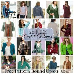 Are you Cardigan Crazy? I am.  I've got some great cardigan patterns in the works for you… but in the meantime, please enjoy this Cardigan/Jacket Round Up. Pin It for later HERE This is the time of year for warm crochet wear, and what better to make than cardigans? I have searched the internet far [...]