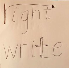 Anchor chart to tell the difference between right and write. Teaching Grammar, Teaching Writing, Teaching Tips, Teaching English, Preschool Learning, Learning Tools, Classroom Activities, Fun Learning, English Lessons