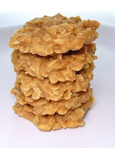Peanut Butter Oatmeal Gluten Free No Bake cookies wo the chocolate!