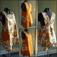 The Maria Wrap Apron by Maven Patterns, lovingly made by Amanda. Reversible Japanese Makers Apron