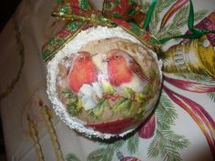 Christmas ball Christmas ornamentChristmas decoupage by goshet