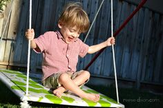 DIY Indoor Swing for Therapy. Pinned by The Sensory Spectrum.