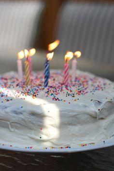 livelovesimple.com | birthday cake #cake #white #party #sprinkles