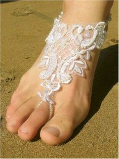 Magnetic Island Weddings Ceremony Help Line: Barefoot Beach Wedding - Beach Shoes, Barefoot Sandals, Foot Jewellery, for Her & Him