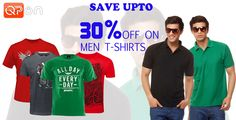 Enjoy some great offer! Today you can get up to 30% off on Men T-shirt.
