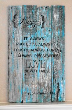 VINTAGE WOOD SIGN....I LOVE!