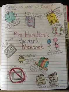 Cafe 1123: Reader's Notebook  Reader's log with reading goals and thoughts on each book