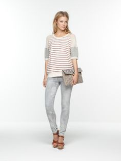 Baseball inspired sweater | sweat | Woman Clothing at Scotch & Soda