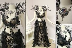 Unseelie Faerie Gown by Lillyxandra on DeviantArt - Kleid - Costume Pretty Dresses, Beautiful Dresses, Faerie Costume, Dark Fairy Costume, Fairy Costumes, Sea Witch Costume, Woodland Fairy Costume, Olaf Costume, Estilo Tribal