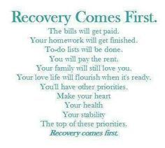 #recovery comes first!  #addiction #inspiration #quote #stopaddiction