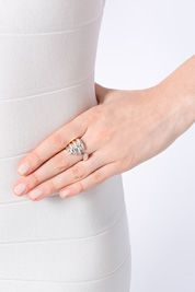 DELFINA DELETTREZ Silver Stonehand Ring