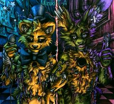 We are still here / Golden Freddy Springtrap FNaF by Mizuki-T-A.deviantart.com on @DeviantArt