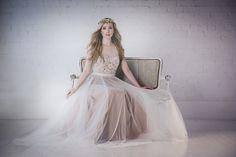 @lovemarleyoffic Penelope gown + Fiorentina halo