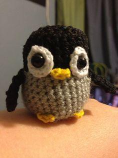 Mini Grey Baby Penguin Crochet Amigurumi