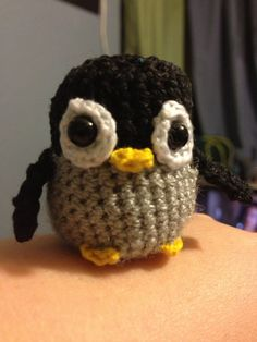 Mini Grey Baby Penguin Crochet Amigurumi