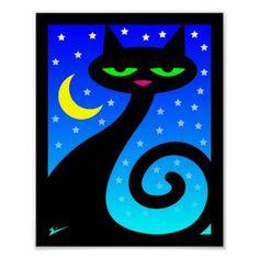 Black Cat Poster.  $8.65