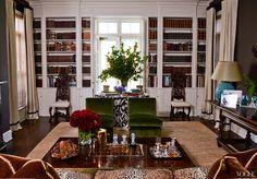 Aerin Lauder's Library via Vogue