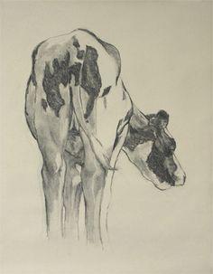 Katrien, conte/sketch paper (65 x 50 cm) © 2008 Klimas