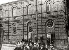 The Synagogue  The Zambrow Synagogue burned down in the First Great Fire in the year 1895. The burned down edifice stood that way for thirteen years: four tall walls, with holes for windows and doors. Inside, tall trees grew of their own accord, wild trees and fruit trees.