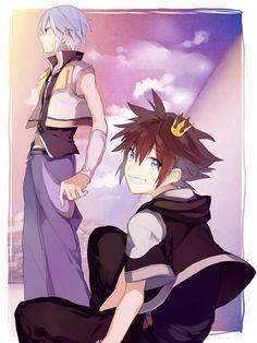 Kingdom Hearts Riku and Sora