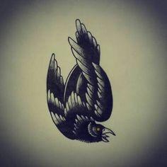 Resultado de imagem para crow traditional tattoo