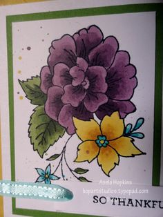 Stampin' Up! I Like You colored in with SU! Blendabilities alcohol markers