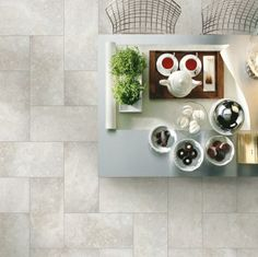 There is more than just herringbone and brick lay formats - be creative, think differently and you could create a truly unique space Stone Look Tile, Stone Tiles, Floor Design, House Design, Timber Tiles, Brick Laying, Room Of One's Own, Outdoor Tiles, Tile Projects
