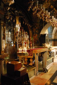 Golgotha altar, site of the crucifixion / Chadica, Wikipedia,