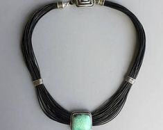 Triangular Agate Pendant with Broomcast Silver Dandelion Necklace, Agate Stone, Leather Cord, Handmade Silver, Artisan Jewelry, Necklace Lengths, Green And Grey, Tassel Necklace, How To Look Better