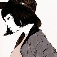 落書き14 練習のための写真から図面 by イリヤ #art #illustration #manga #anime #character #girl #pixiv #Kuvshinov_Ilya
