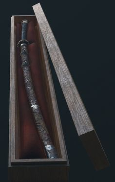 ArtStation - Sekiro Fanart - Fushigiri (The Mortal Blade), Sebastian Schulz Samurai Weapons, Ninja Weapons, Katana Swords, Samurai Art, Japanese Warrior, Japanese Sword, Weapon Concept Art, Armor Concept, Fantasy Sword