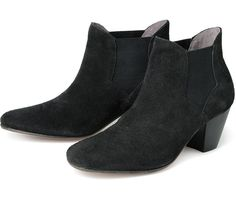 Sister to one of our most popular styles, Kiver, Claudette takes the same design aesthetic but applies it to a Chelsea boot design. This pull on boot has a timeless design with a simple suede upper, and subtle detail added in angular elastic panel. Claudette is finished on a leather sole, with full leather lining.