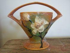 Vintage Roseville Pottery Magnolia Brown by RockySpringsVintage, $45.00
