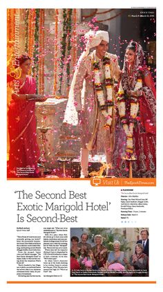 'The Second Best Exotic Marigold Hotel' Is Second-Best|Epoch Times #Movie #editorialdesign