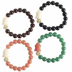 Buddha Charm Bracelet- so cute! I have it in pink. Spiritual Jewelry, Buddha, Sparkle, Charmed, Jewels, Nails, Bracelets, Pretty, Pink