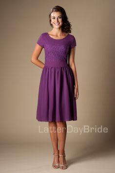 modest-bridesmaid-dress-mw22070-purple-front.jpg | Wedding ...